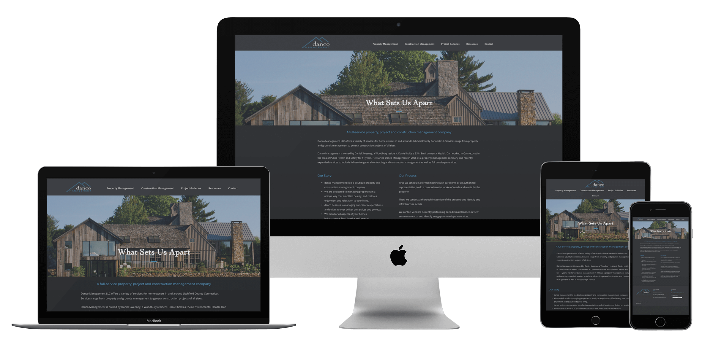 Construction maintenance website design