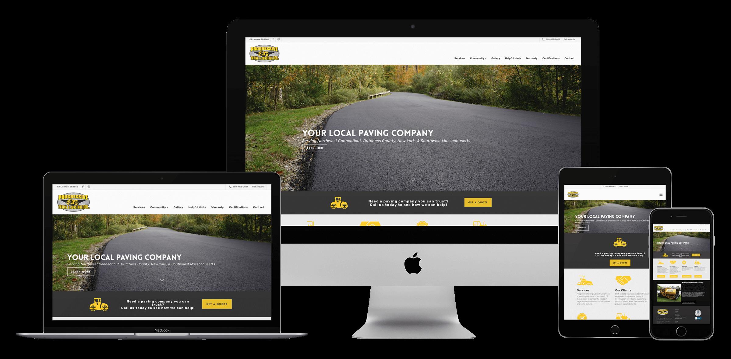 paving company website design