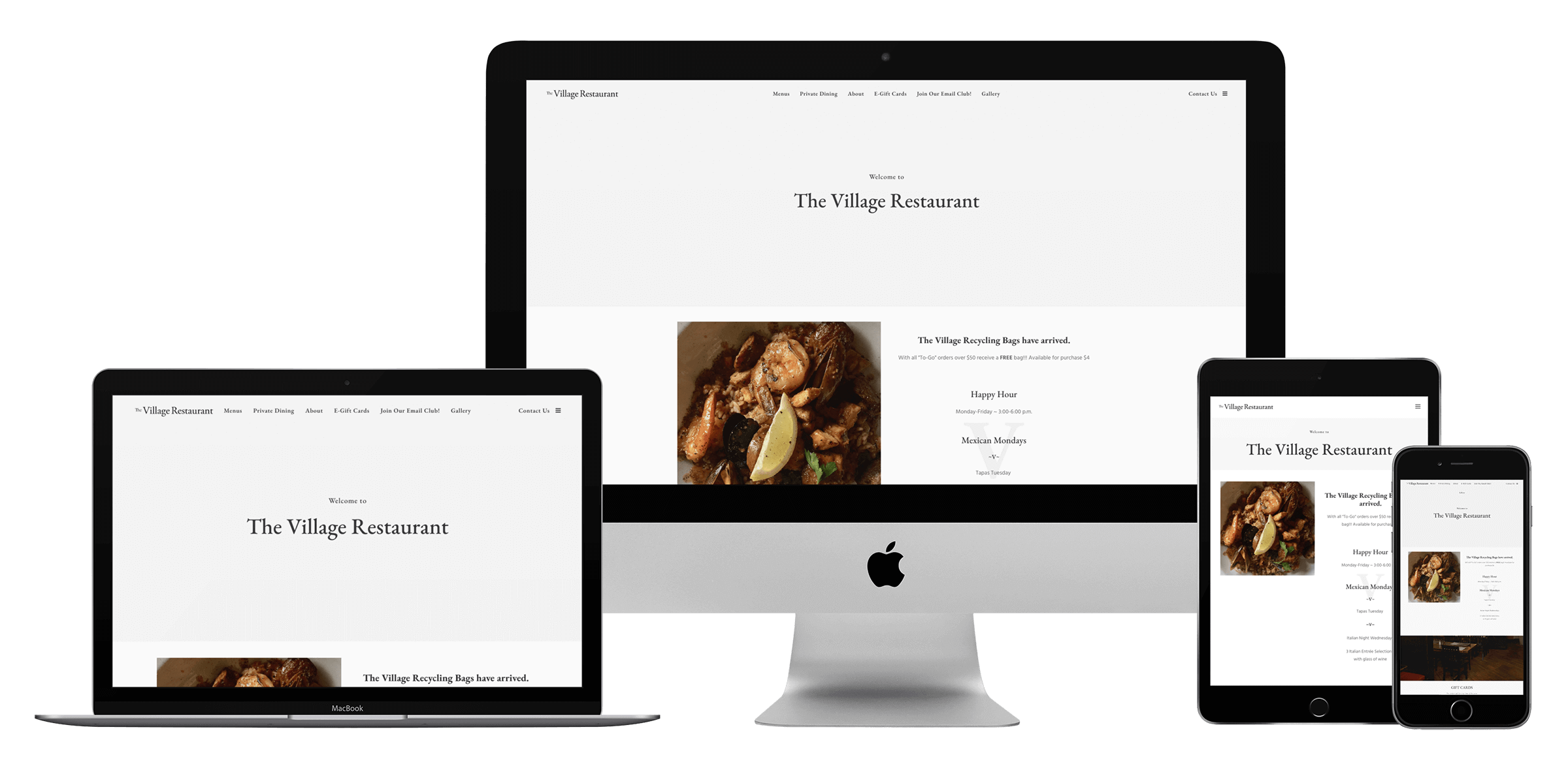 Restaurant marketing and website design